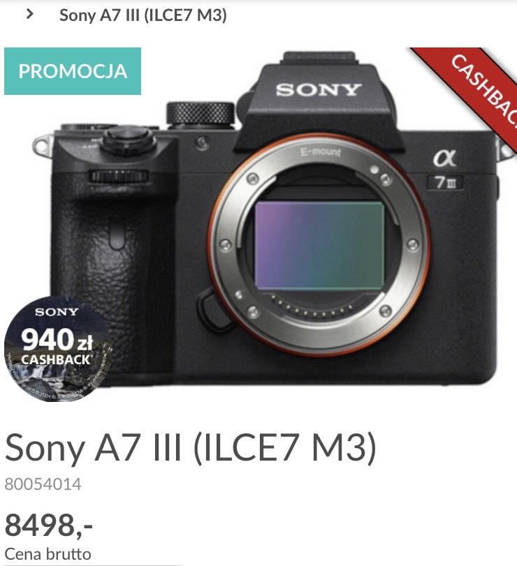 Sony A7 III (ILCE7 M3) Fotojoker sklep stacjonarny Kraków
