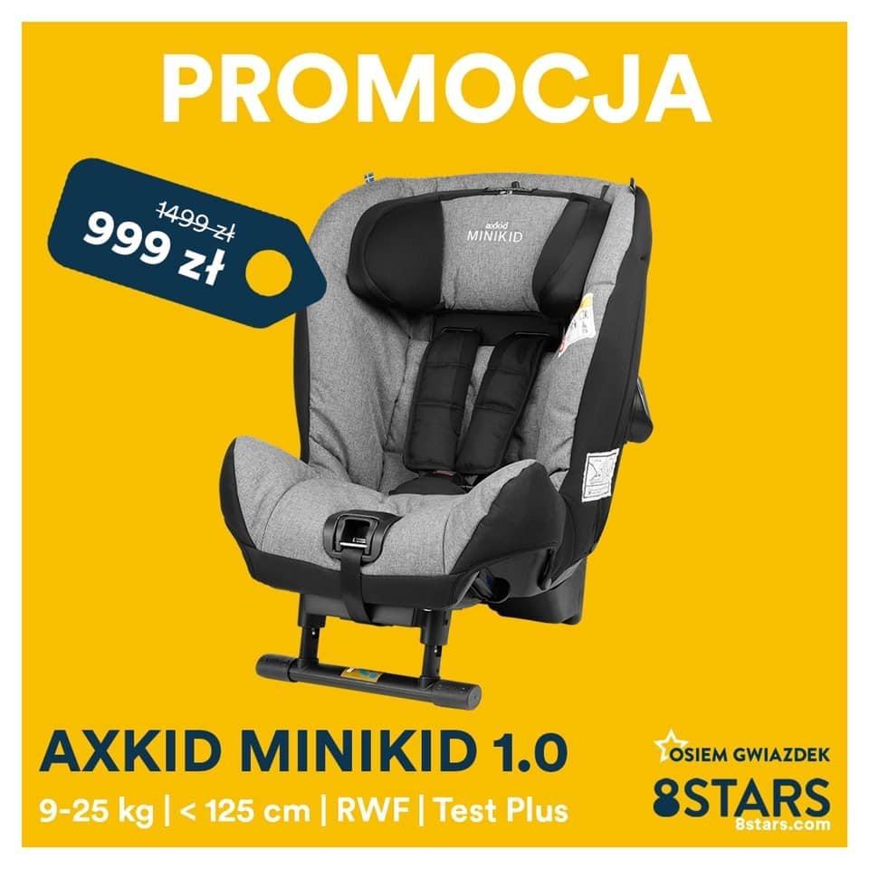 Axkid Minikid 1.0 fotelik tyłem rwf 9-25kg - 8stars