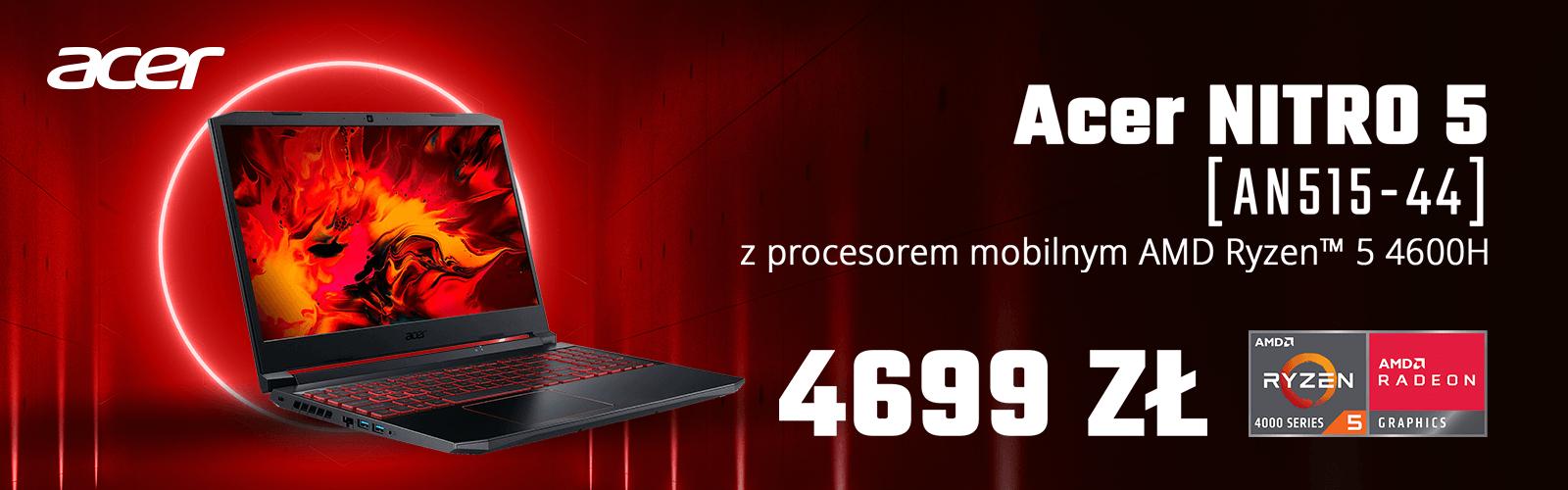 """Acer Nitro 5 AN515-55-53M3 15,6""""144Hz Intel® Core™ i5-10300H - 16GB RAM - 512GB SSD Dysk - RTX2060 Grafika - Win10"""