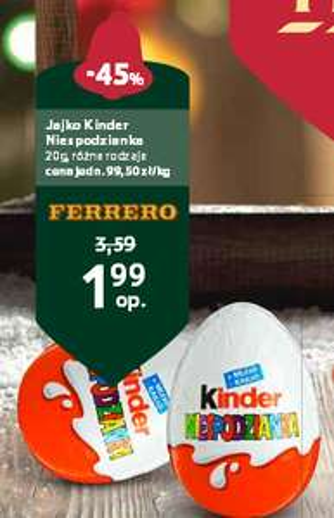 Jajko Kinder Niespodzianka za 1,99zł @ Tesco
