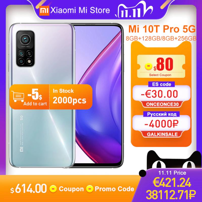 """Smartfon Xiaomi Mi 10T Pro z wysyłką z Polski (kamera 108MP, Snapdragon 865, 5G, ekran 6,67"""" 144Hz, 8/128GB) @ AliExpress"""