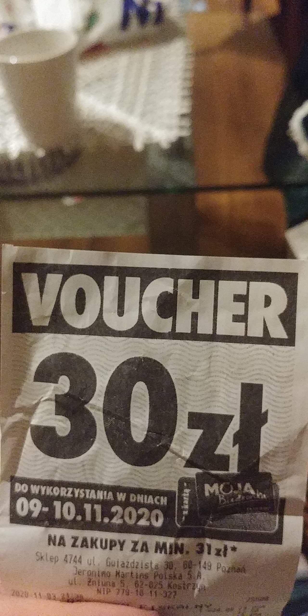 Biedronka kupon rabatowy 30 zł mwz 31 przy zakupie artykułów promocyjnych