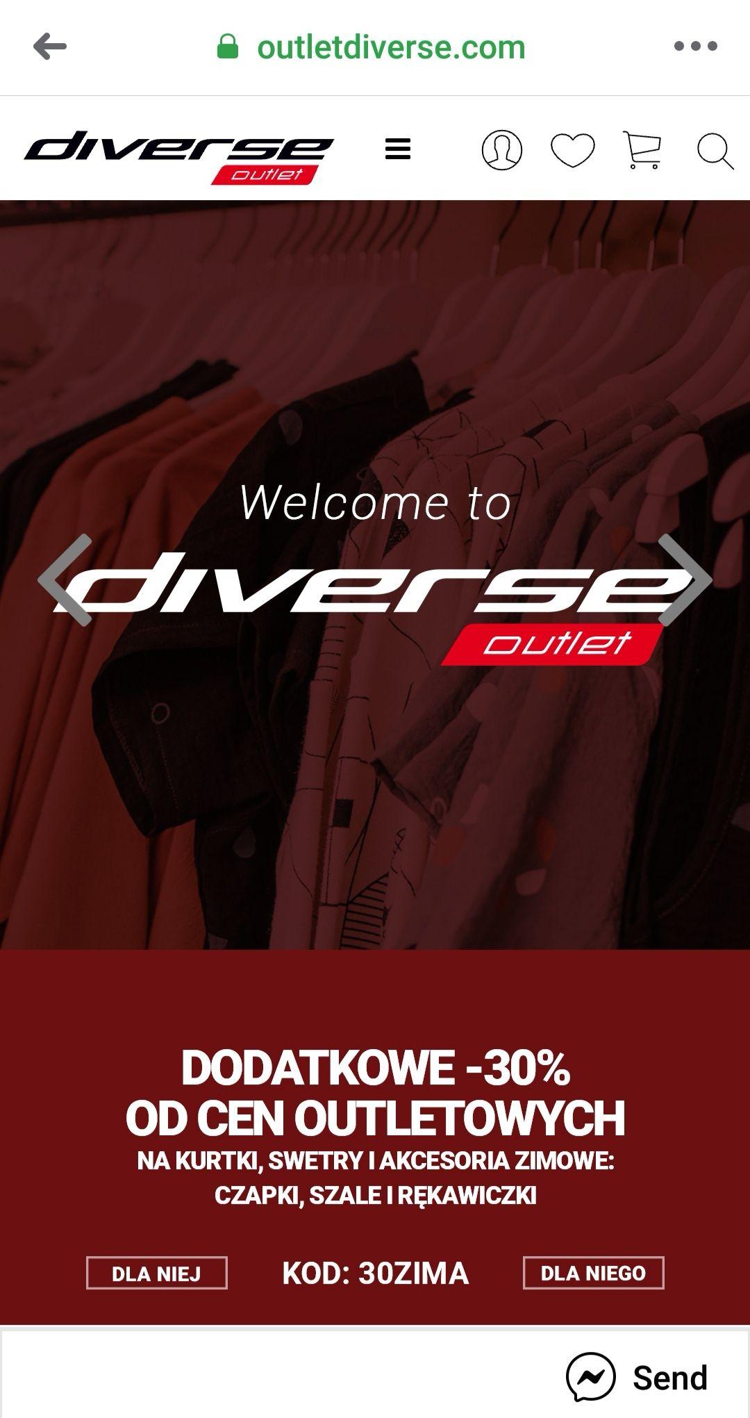 Diverse dodatkowe -30% od ceny outletowej