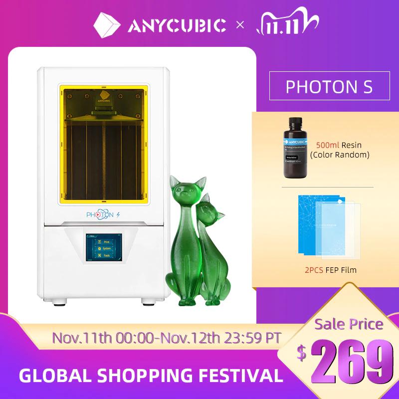 Drukarka 3D Fotopolimerowa Anycubic Photon S - $270.45 i darmowa wysyłka PL