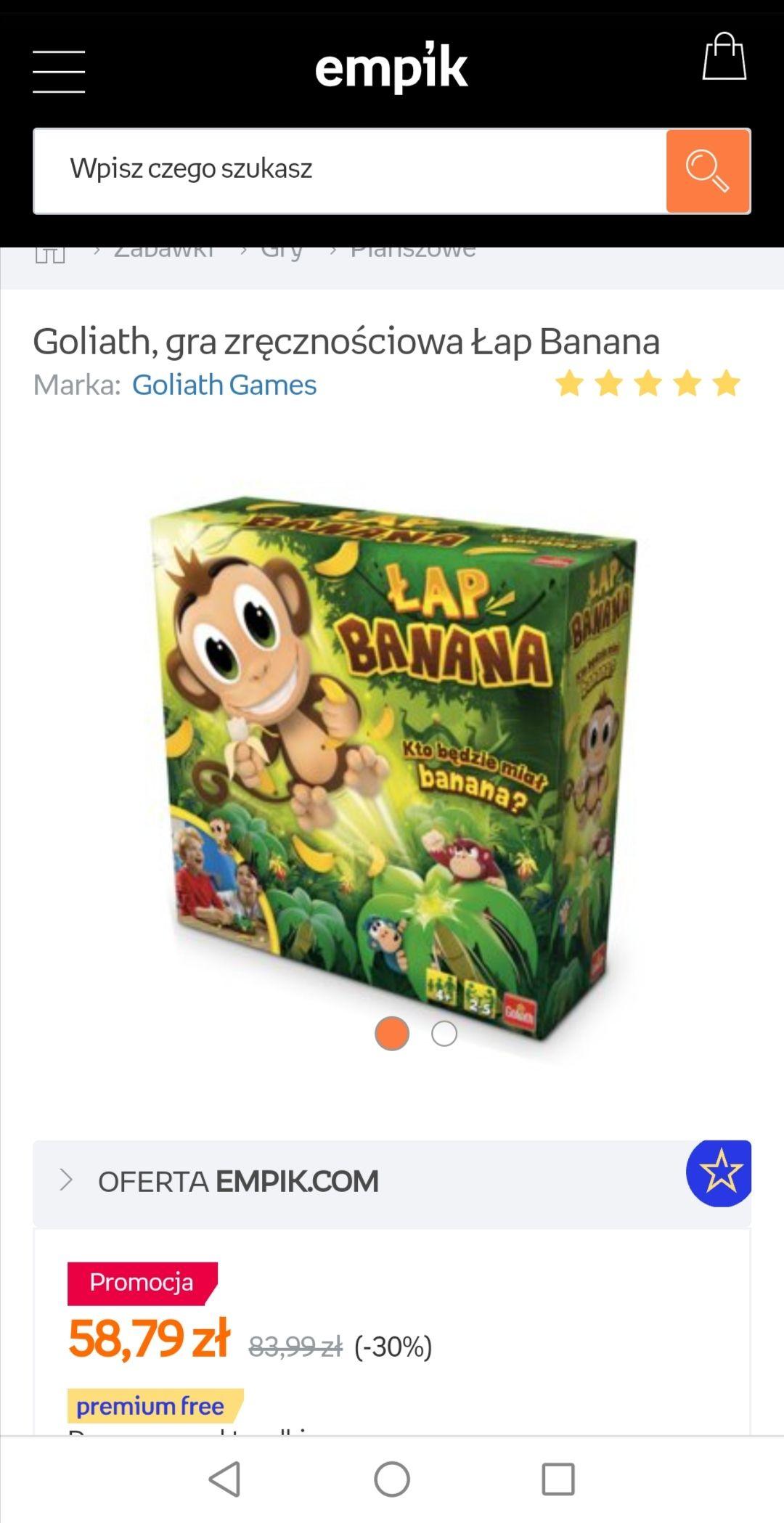 Gra zręcznościowa Goliath Łap banana