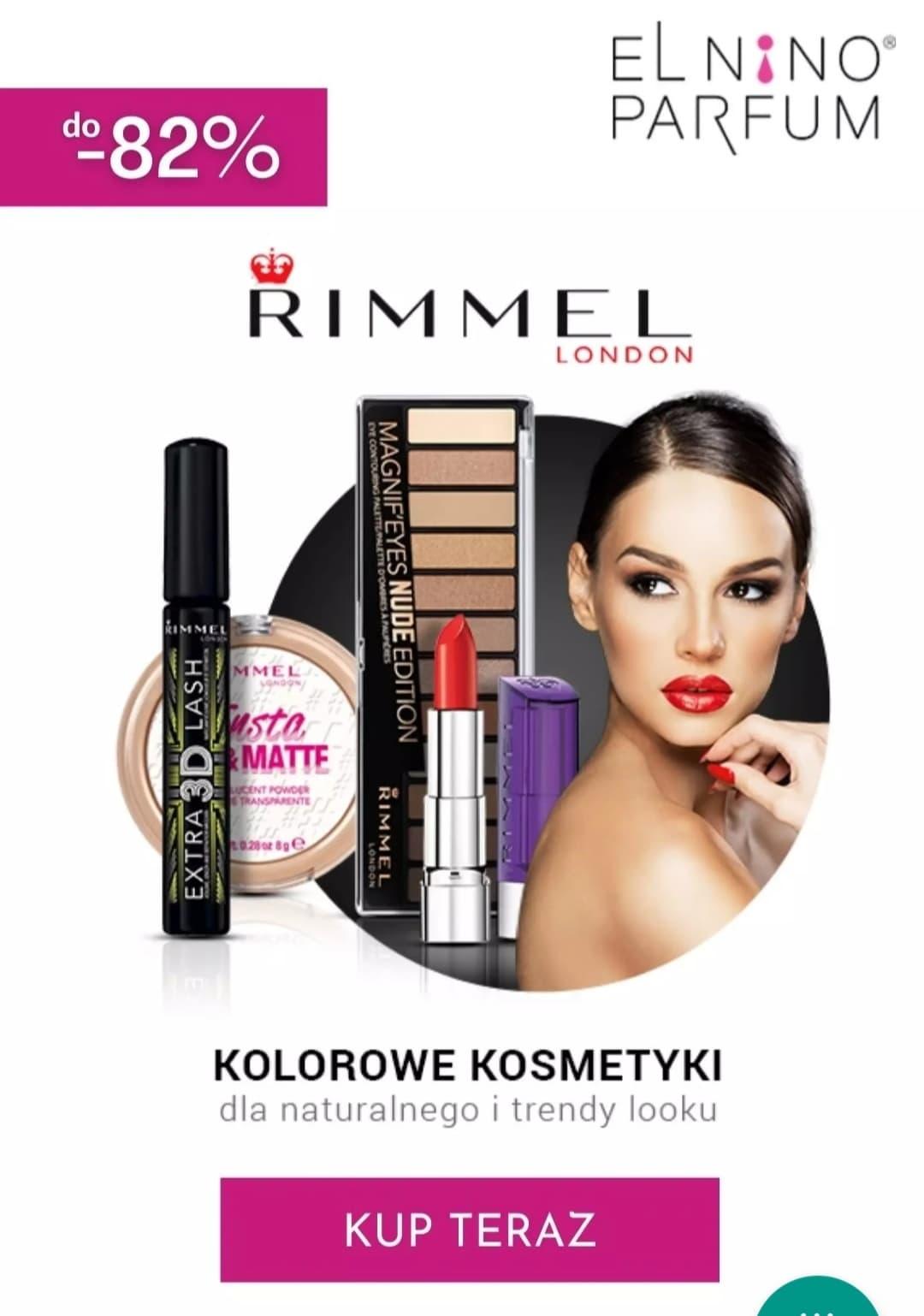 Do -82% przeceny na kosmetyki marki Rimmel London - Elnino-parfum