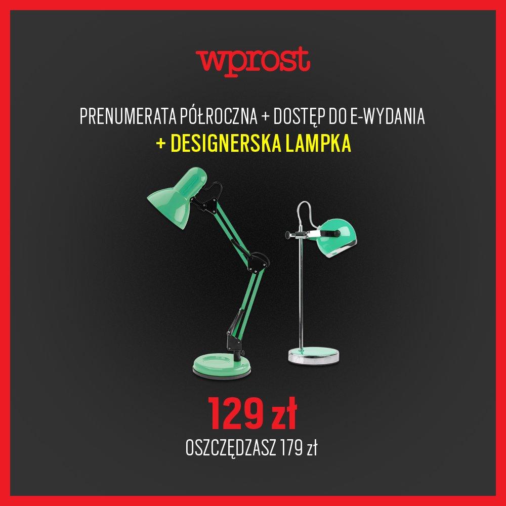 Półroczna prenumerata Wprost + e-wydanie + designerska lampka GRATIS! [-179zł]