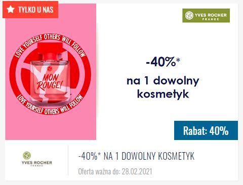 YVES ROCHER -40%* na 1 dowolny kosmetyk