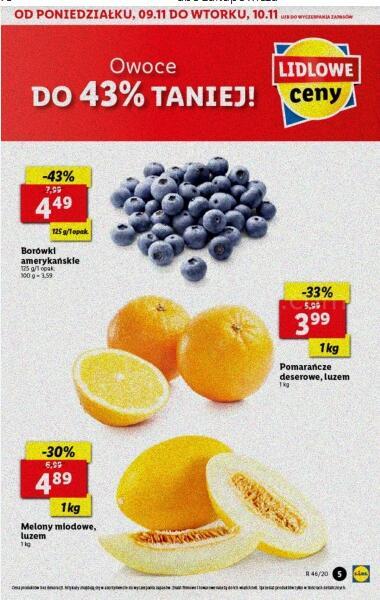 Pomarańcze deserowe kg luz oraz inne owoce i warzywa @Lidl