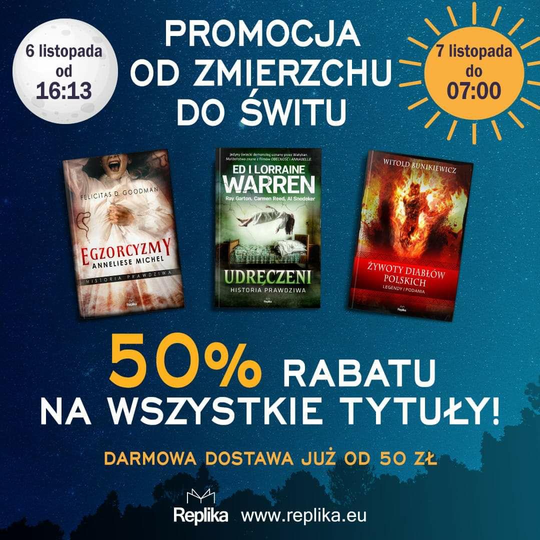 Rabat 50% na wszystkie książki wydawnictwa Replika