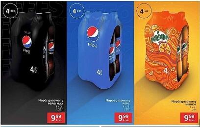 Napój Pepsi, Pepsi Max, Mirinda 4x2l @Carrefour