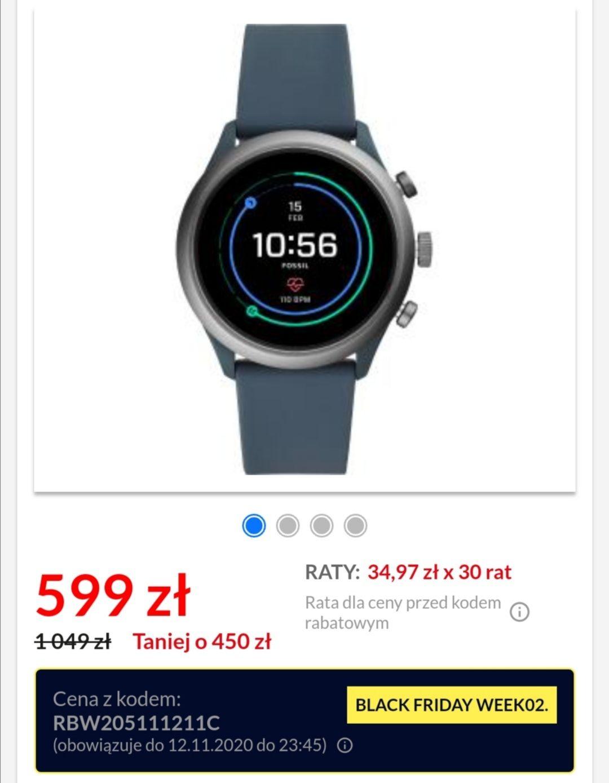 Smartwatch Fossil FTW4021 SPORT NFC