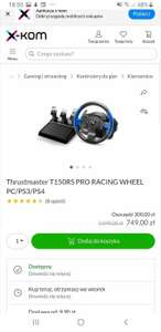 Thrustmaster T150RS Pro PC/PS3/PS4