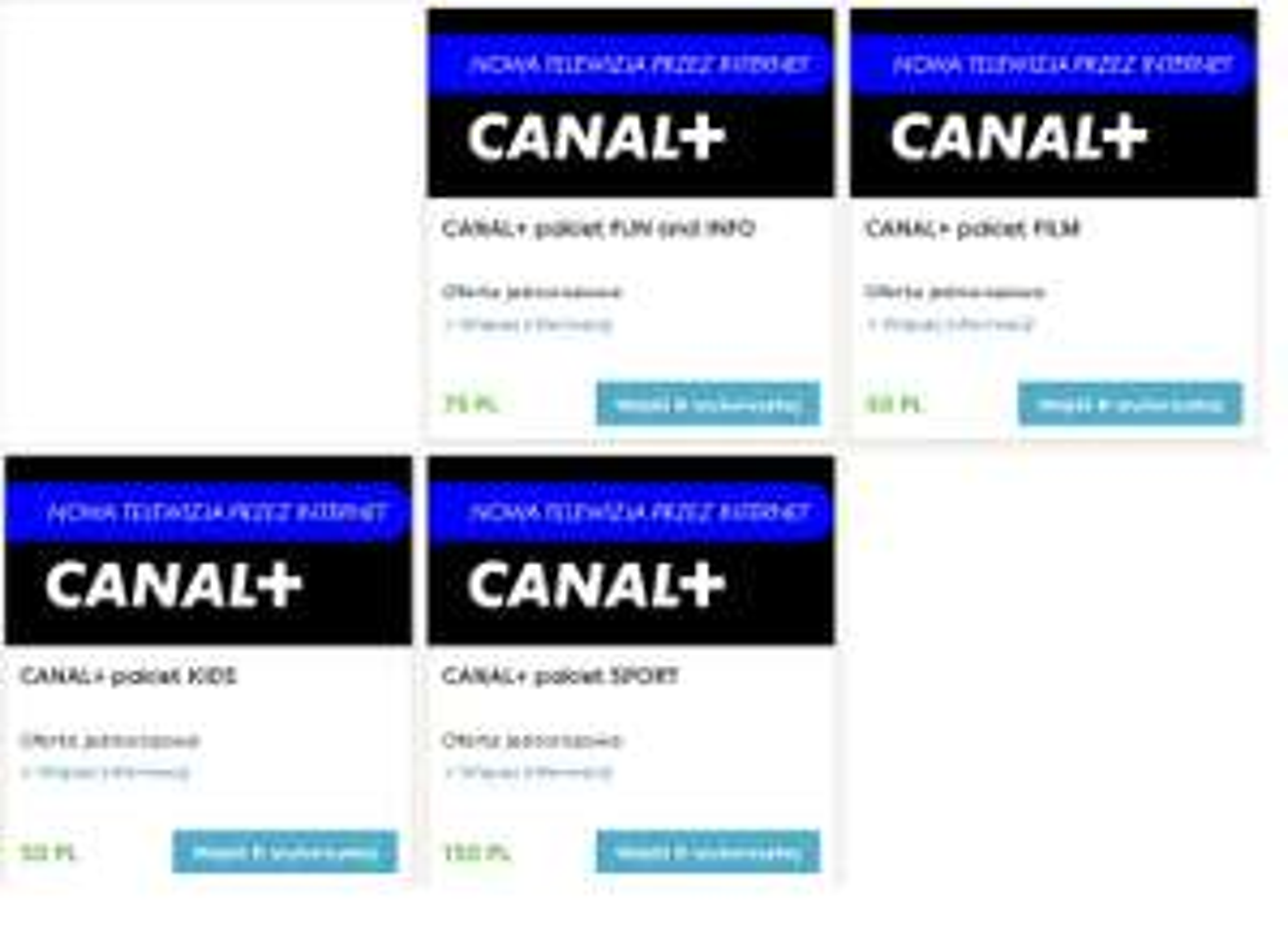 Pakiety Canal + za punkty lojalnościowe w pyszne.pl