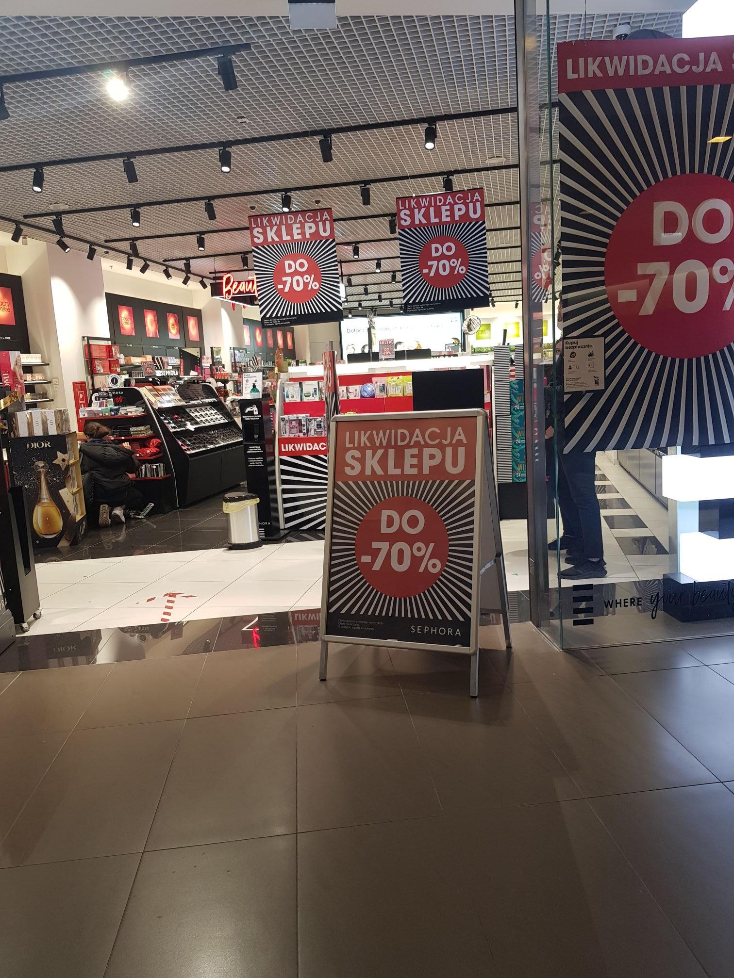 Sephora likwidacja Renoma Wrocław do -70%