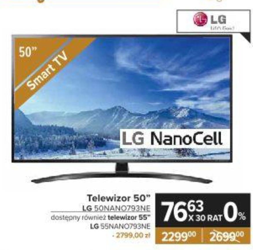 "Telewizor LG 50"" 50NANO793NE NanoCell, 4K UHD, Smart TV, 2020 AI TV ze sztuczną inteligencją, pilot Magic AN-MR20BA - Carrefour"