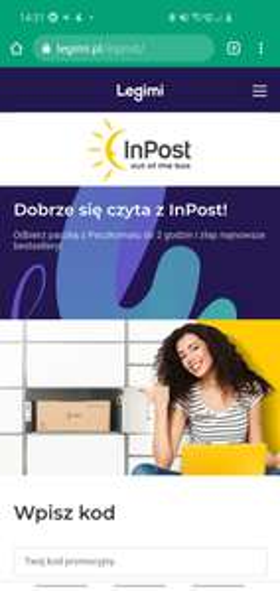Darmowy ebook do Legimi za odbiór paczki z Inpost