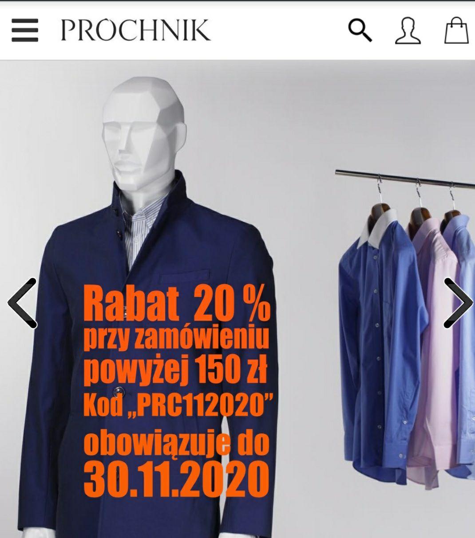 Próchnik rabat 20% przy zamówieniu za 150 zł