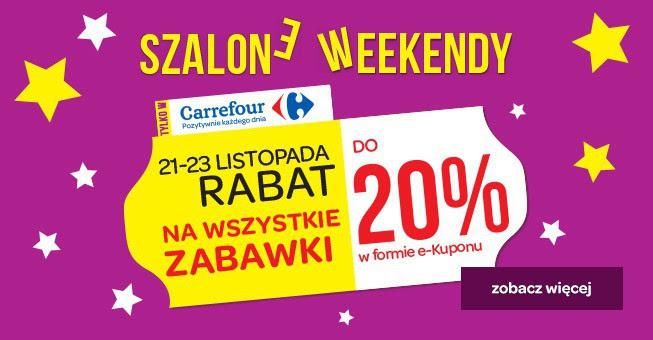 Tylko w nadchodzący weekend, do 20% zwrotu przy zakupie zabawek @ Carrefour