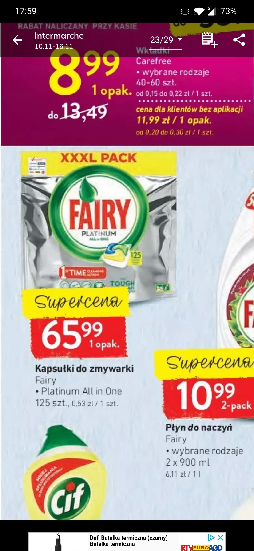 Fairy Platinum tabletki do zmywarki 125 szt. W Intermarche
