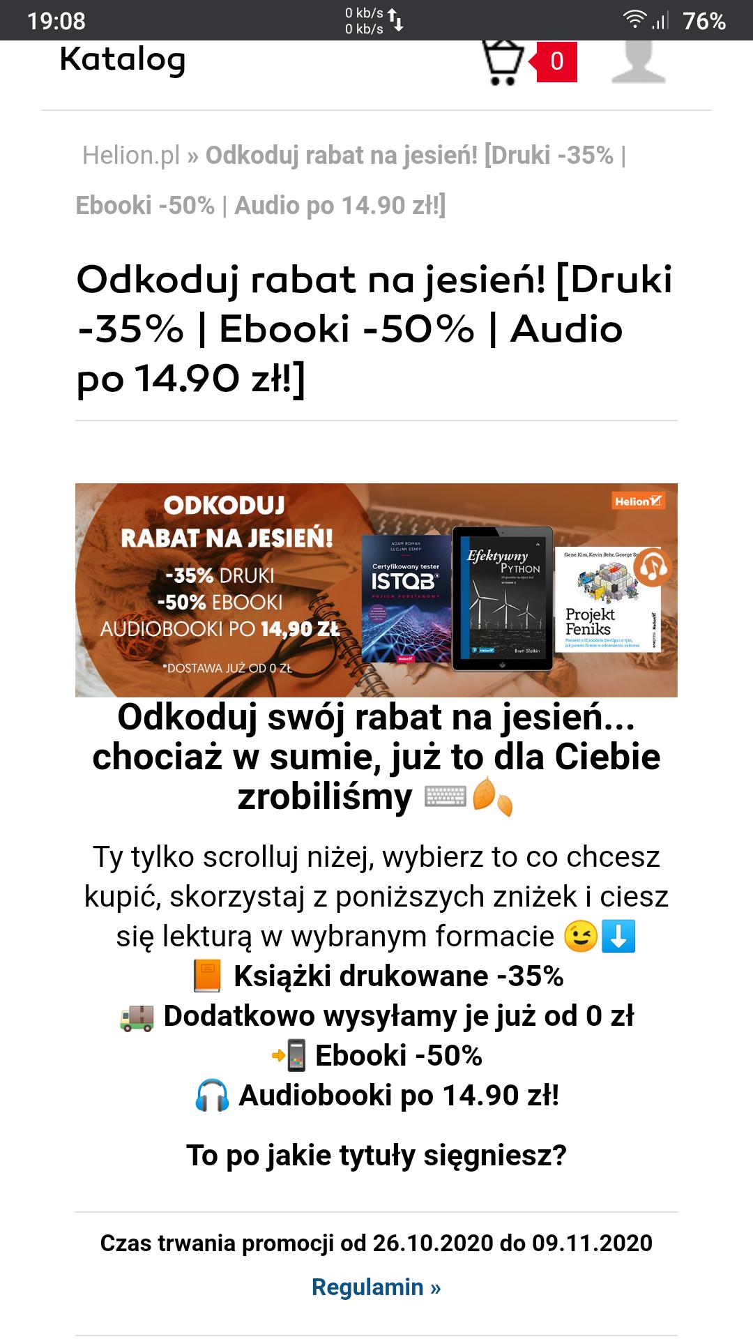 [Helion] Druki -35% | Ebooki -50% | Audio po 14.90 zł!