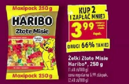 Haribo Złote Misie 250g przy zakupie 2 opakowań