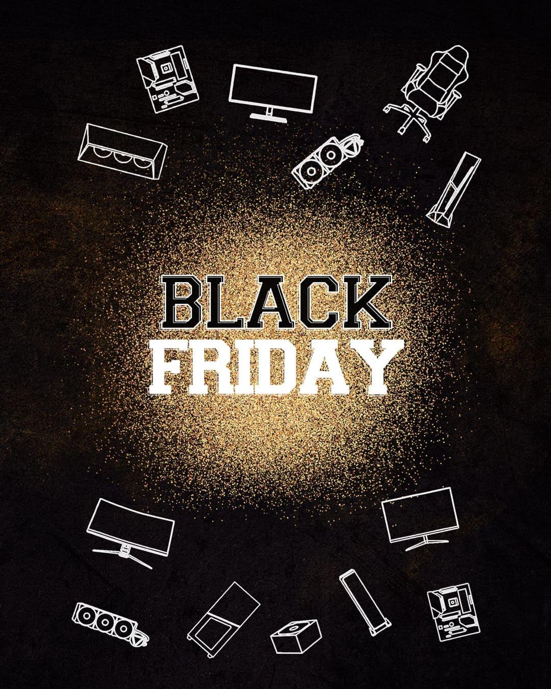 MSI Black Friday (cashback do wartości 357 zł przy zakupie wybranych płyt głównych, obudów, zasilaczy, monitorów, PC, krzeseł)
