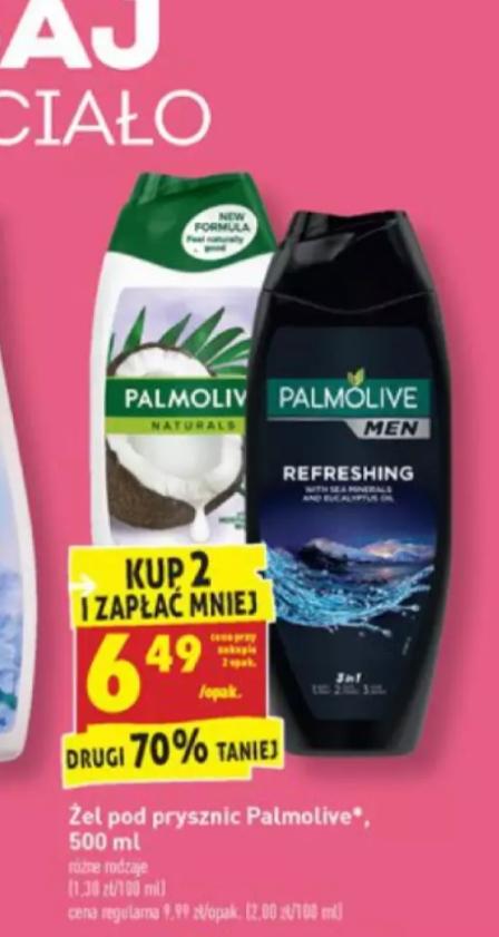 Palmolive żel drugi 70% taniej Biedronka