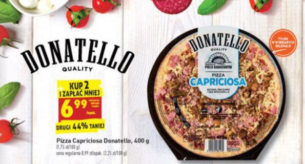 Pizza Donatello Capriciosa taniej przy zakupie 2 szt