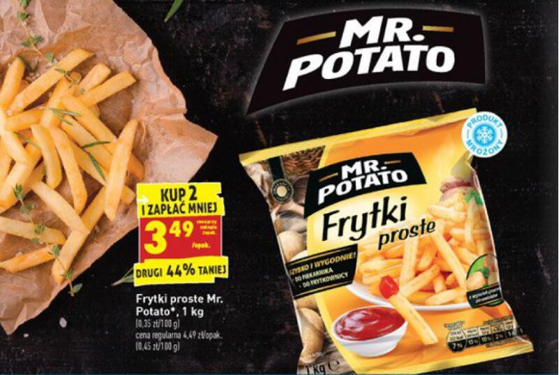 Frytki Mr.Potato 1kg taniej przy zakupie 2 sztuk