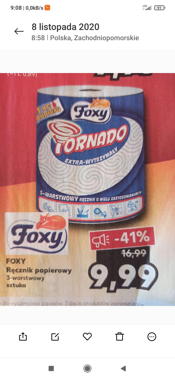 Ręcznik papierowy Foxy Tornado. Kaufland.