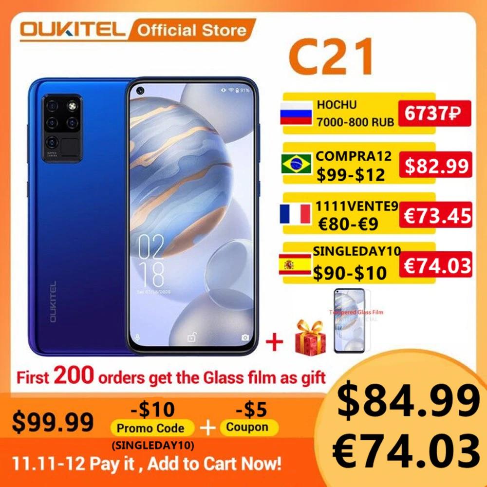 Smartphone Oukitel C21 4/64GB - $84.99 - 11.11