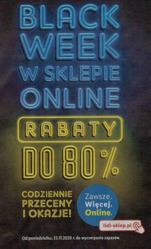 Black week w Lidl (sklep online). Rabaty do 80%