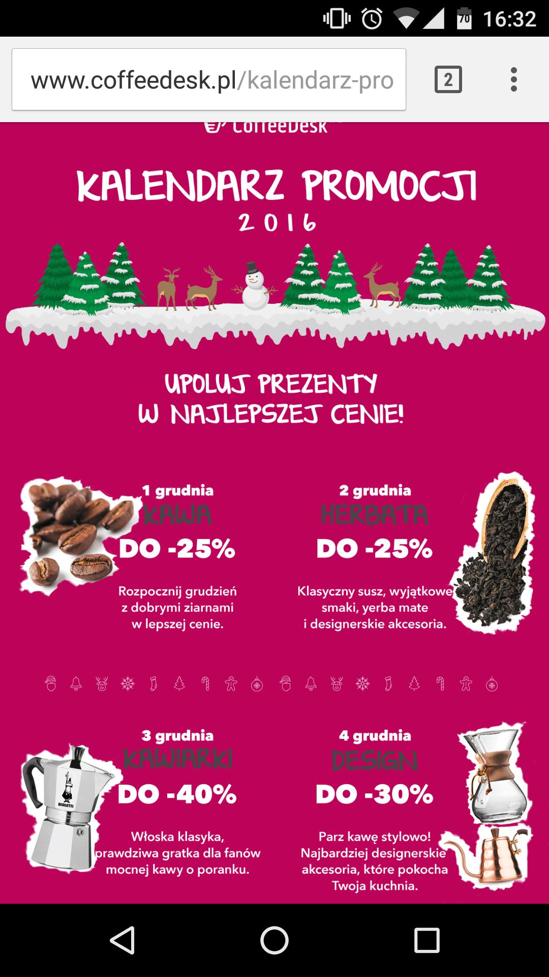 Rabat na kawę i akcesoria do -40%