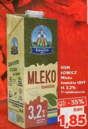 Mleko Łowickie 1L 3,2%. Kaufland