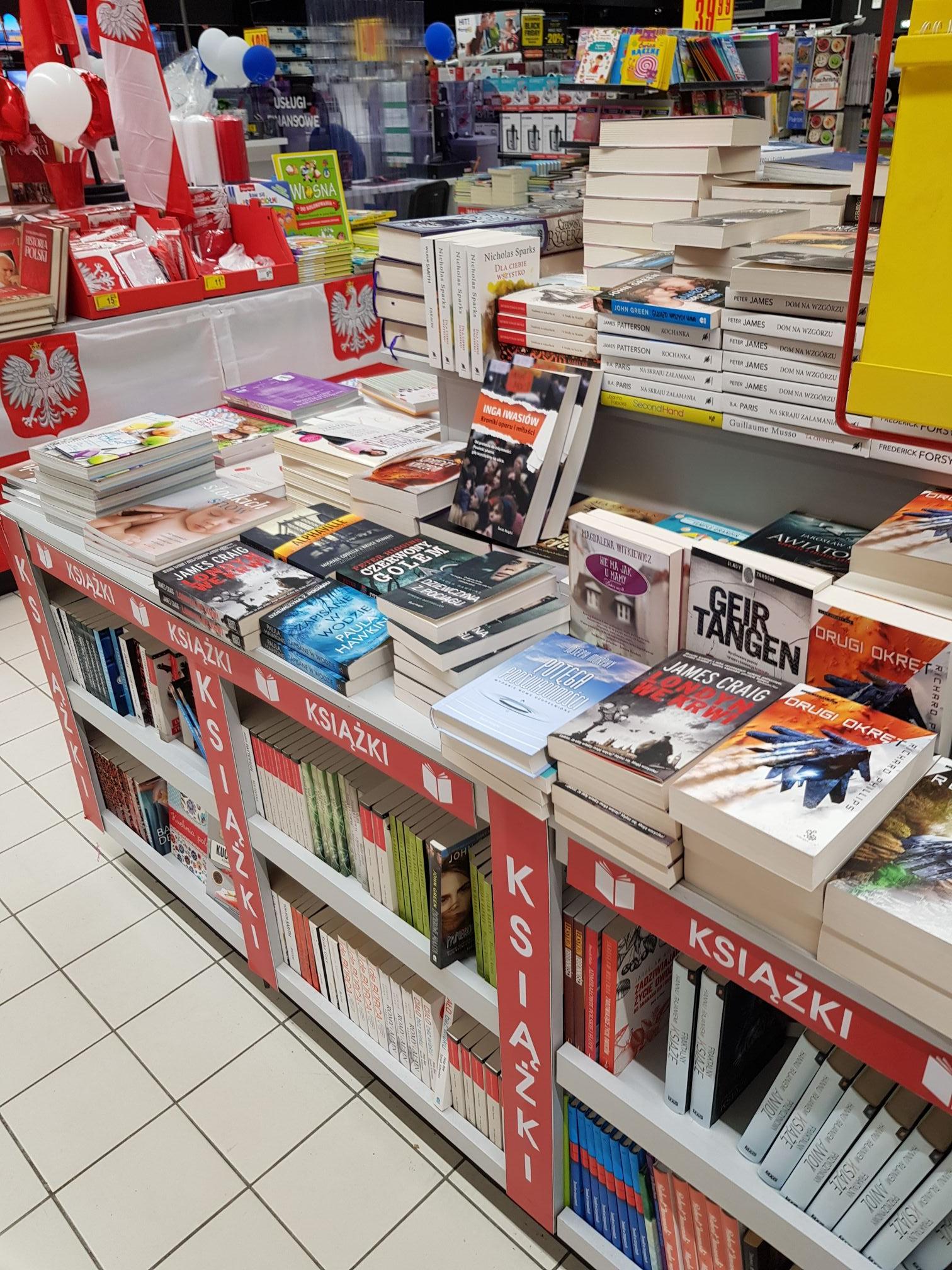 Carrefour Kraków Zakopiańska książki 9.99zł
