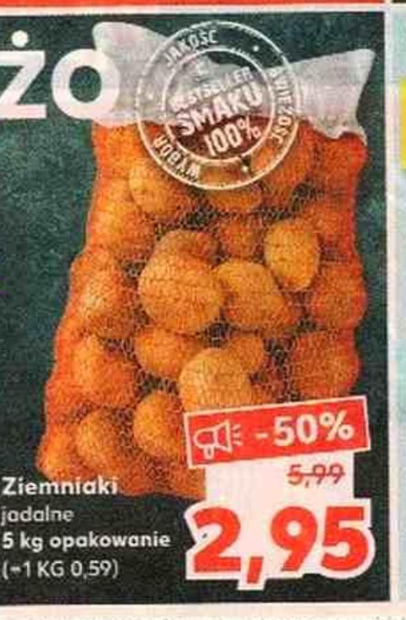Ziemniaki 5kg za 2,95zł