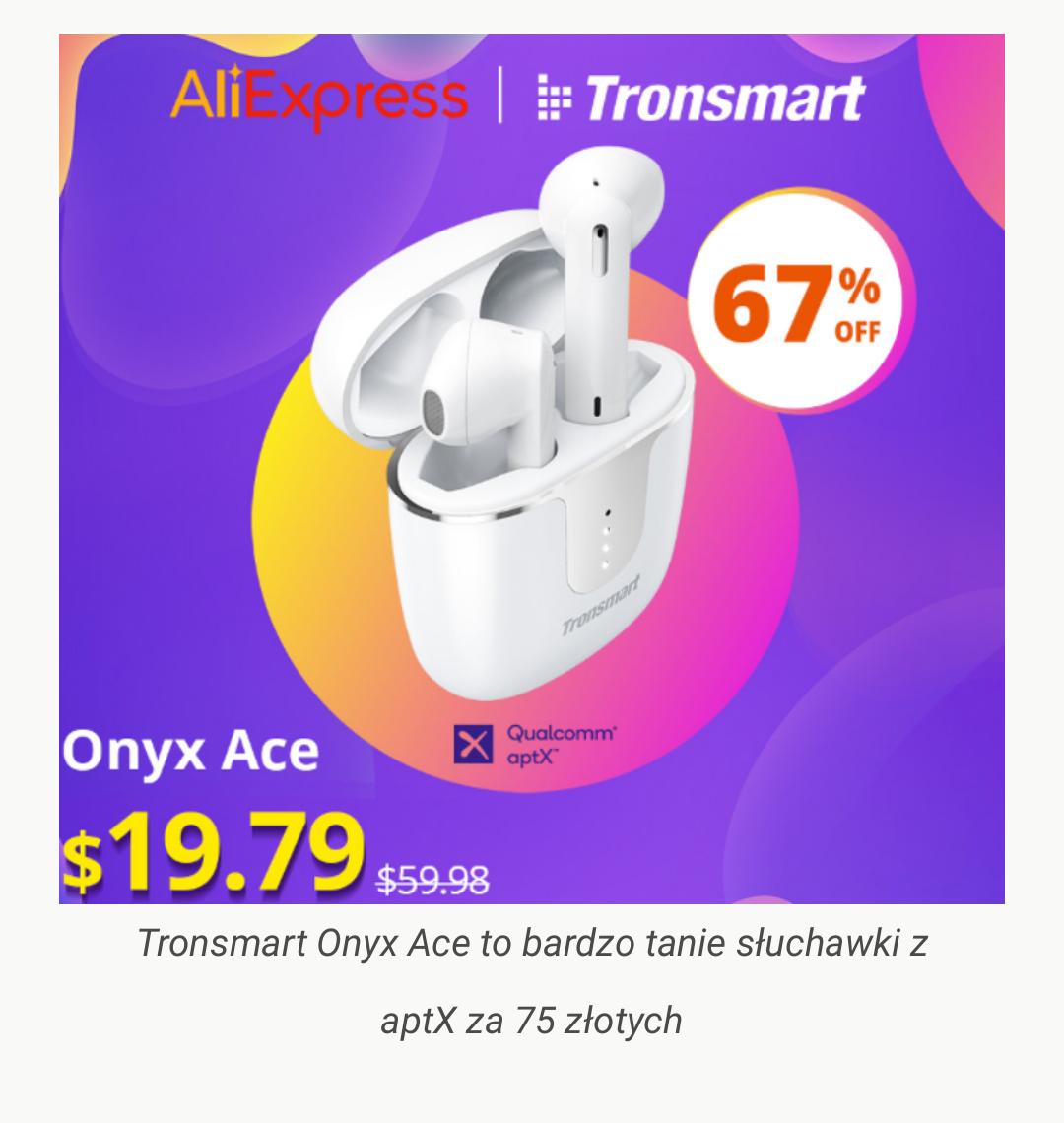 Tronsmart Onyx Ace $19,79 ( 67% RABATU )
