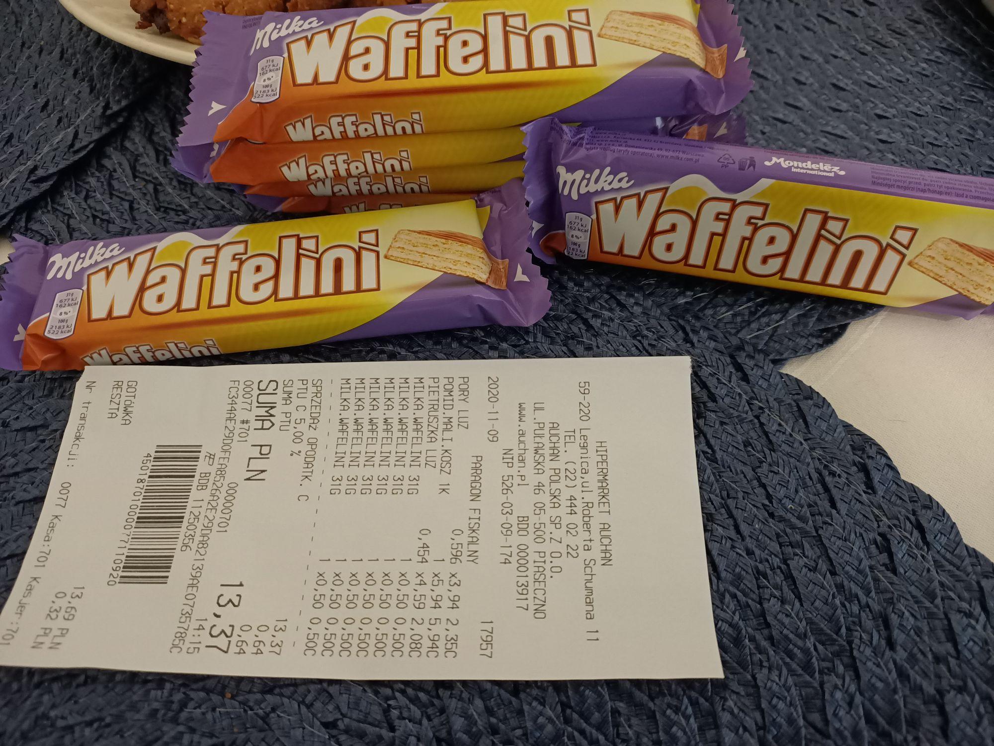 Milka Waffelini Auchan Legnica