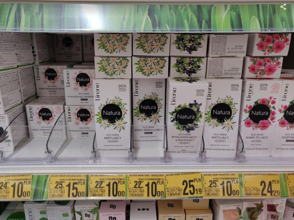 Kremy z serii Lirene Natura 50ml za 10 zł w Auchan
