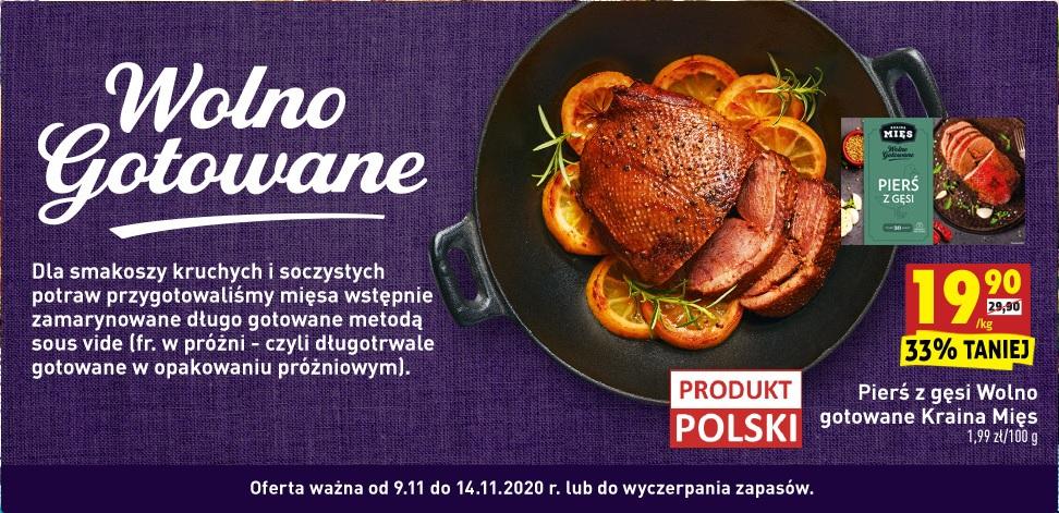 Pierś z gęsi wolno gotowane: Biedronka Gęsina na Św. Marcina