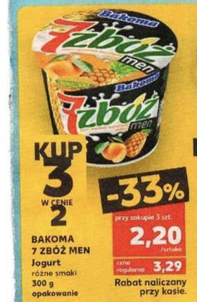 Jogurt Bakoma 7 zbóż men