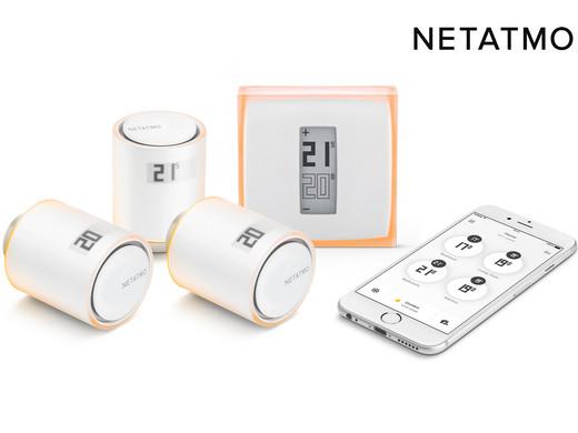 Inteligentny termostat Netatmo + 3 pokrętła
