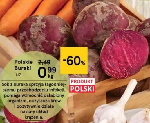Polskie Buraki luz 0,99zł/kg - Tesco