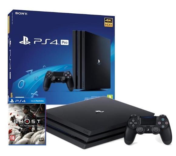 Konsola Sony Playstation 4 Pro 1TB + Ghost of Tsushima