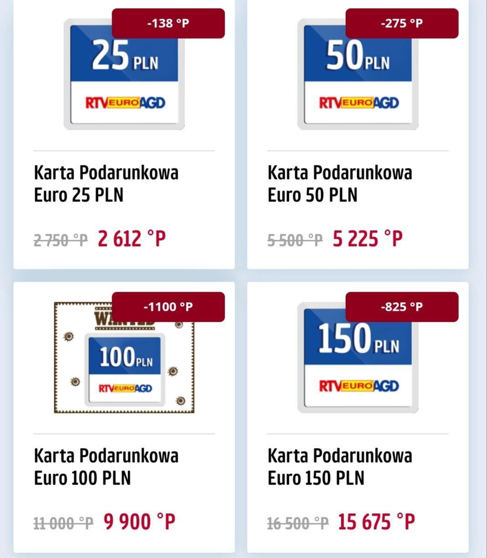 RTV euro AGD Voucher obniżka punktowa Payback do