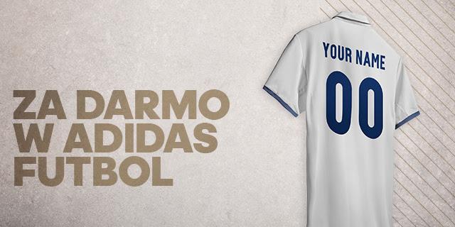 Koszulki piłkarskie z darmowym nadrukiem (imię i numer) oraz 20% rabatu @ Adidas
