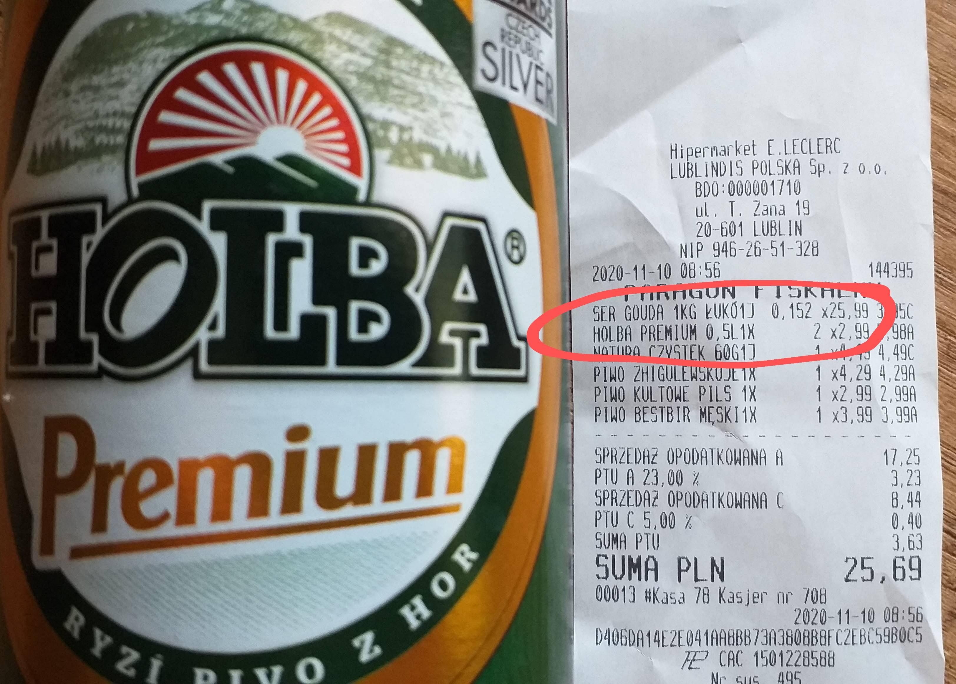 Holba Premium 0,5 L @ Leclerc