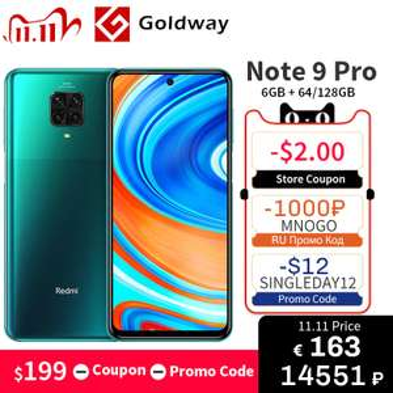 Redmi Note 9 Pro 6/64GB Global Version