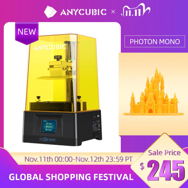 Drukarka 3D Fotopolimerowa SLA Anycubic Photon Mono 172,93€ i wysyłka z Polski